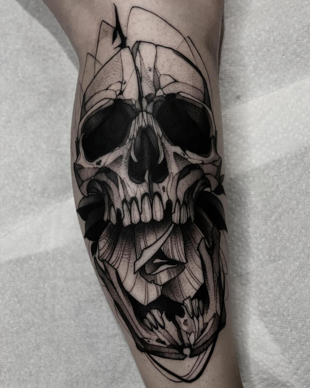 Calf piece done today by me (Max LaCroix) from Empire Inks Studio in Appleton, WI