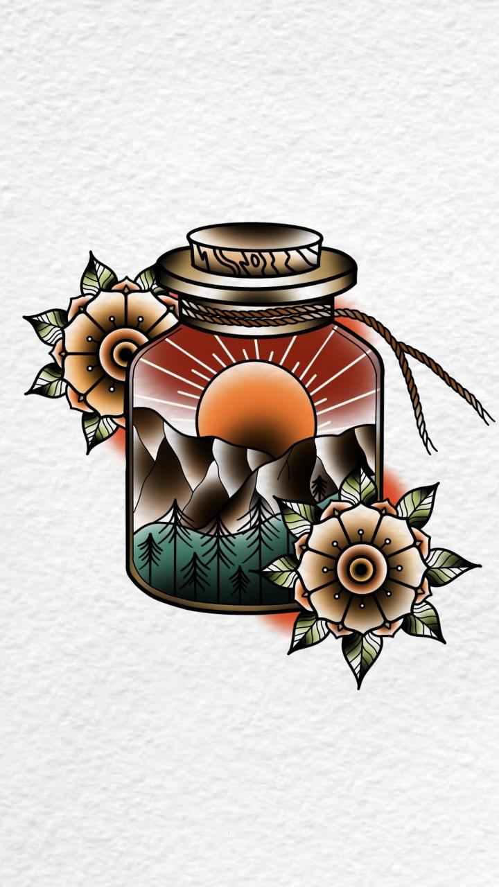 Traditional jar scenery by me. @rustyshackleferdd on IG, thanks for lookin.