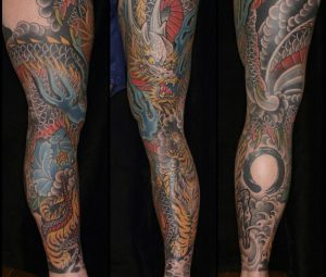 Anyone with foot tattoos? I'm getting a full leg sleeve (Japanese traditional, something like this) from my right ankle to my right hip. I was wanting to go an inch below my ankle but I recently thought of maybe doing the whole foot into the leg sleeve? What do you guys think?