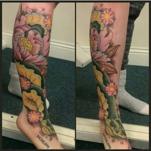 (First Post) My beautiful leg piece. Done 2015 by Scott Grozier at Triple Six Tattoos.