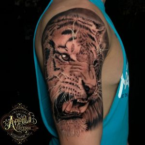True King of the Jungle by Appolo.Tattoos out of Wilkes Barre, PA! (570 Tattooing Co.)