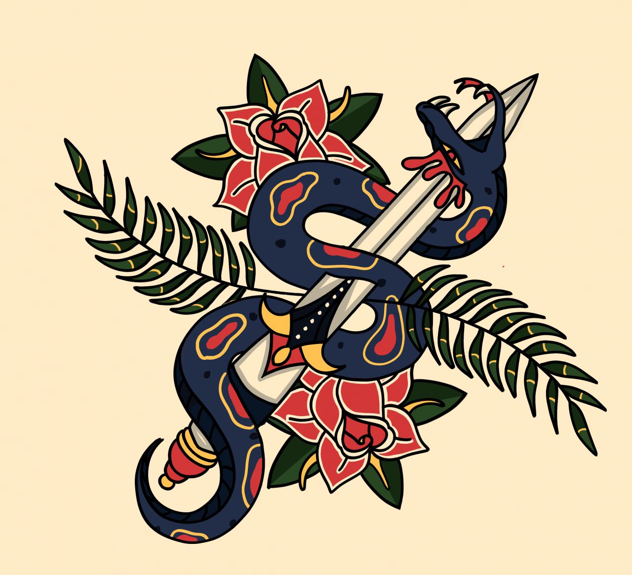 Americana-ish snake. criticism welcome ^_^