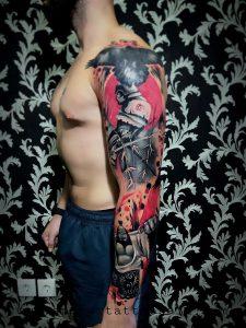 my Full arms , Anchor tatoo, bali 2017