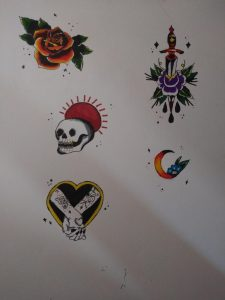 Some tattoo designs practice :))