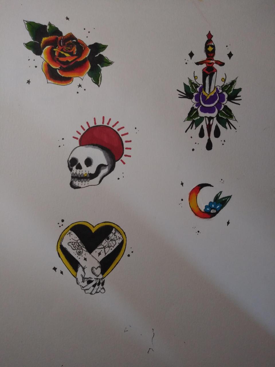Some tattoo designs practice :))