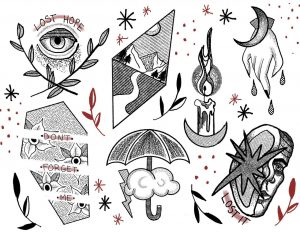 some tattoo flash i made :)