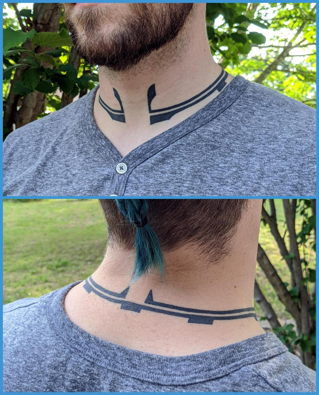 My Belter neck tattoo (The Expanse)! Done on NYE by Kevin Craft @ evolvink/Bordentown NJ