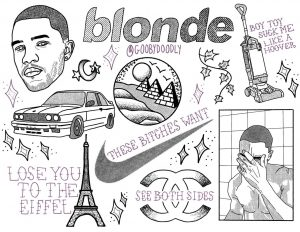 frank ocean tattoo flash :)