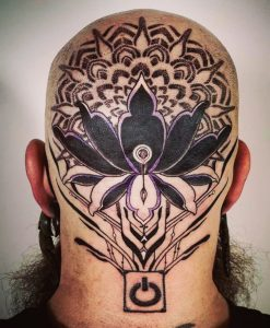 The back of my head by Thu at All Sacred; Edgewater, CO