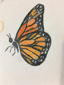 This is my semicolon-monarch tattoo design