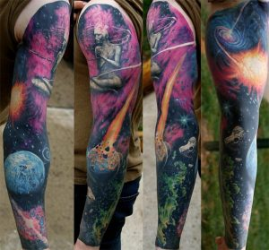 Done a while back, but this is my space sleeve by Dan Henk when he was at Deep Six Tattoo in Philadelphia.