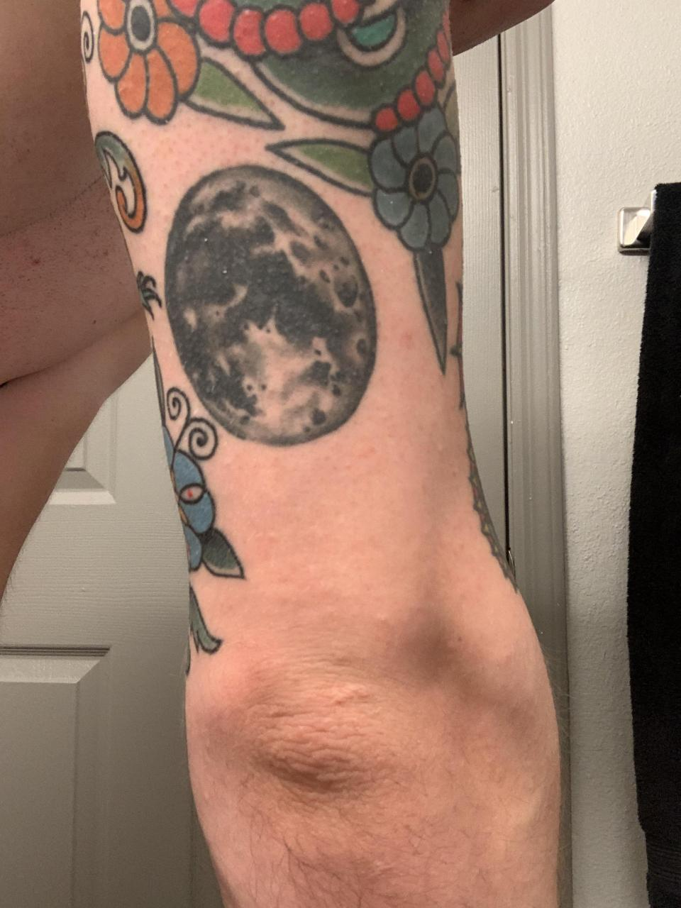 Suggestions for my elbow? Redo/revamp/cover ideas for the moon?