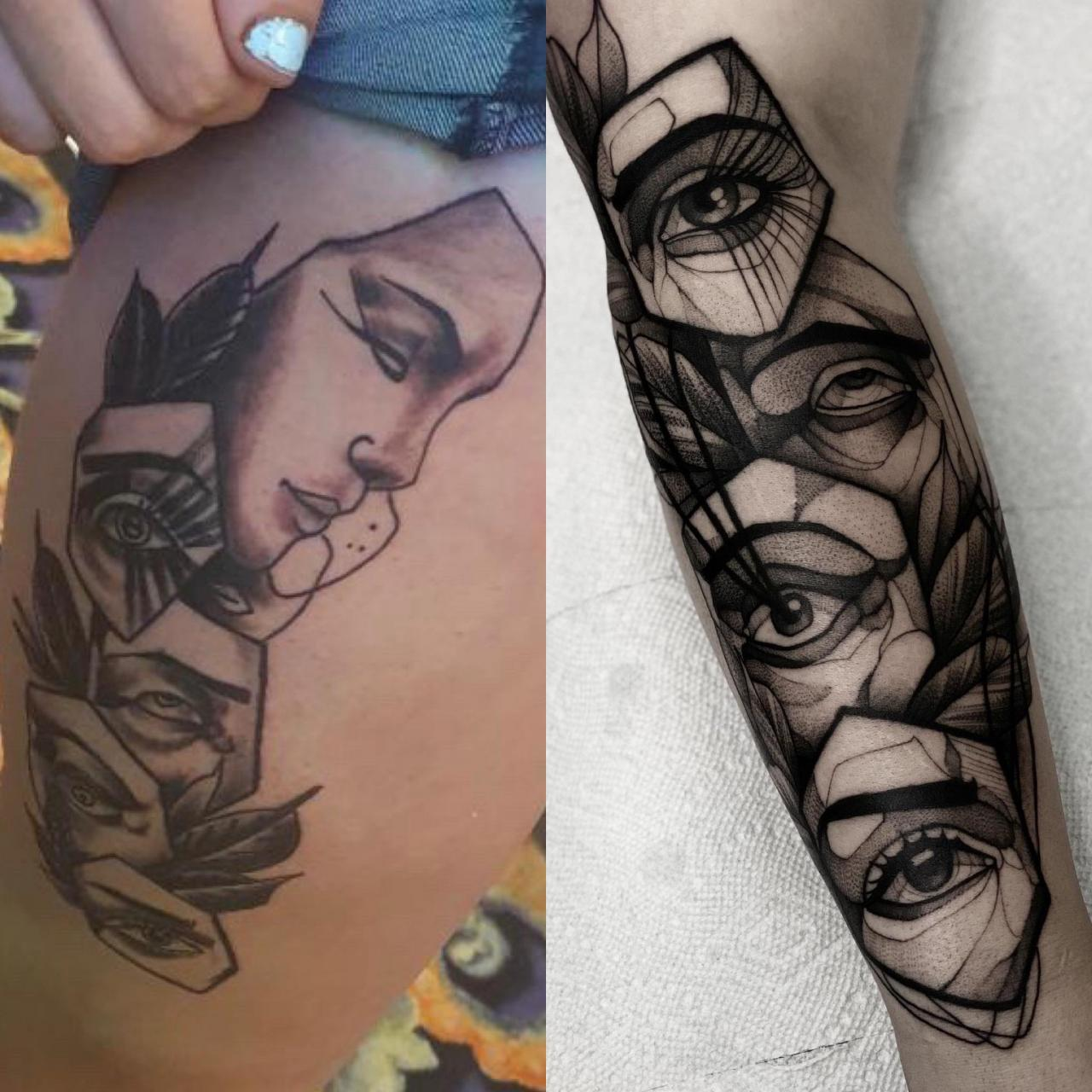 Just wanted to do a quick PSA as to why you don't take artist's designs to get them tattooed by other artists. Always try to travel or find dope artists in your area that do quality tattoos.