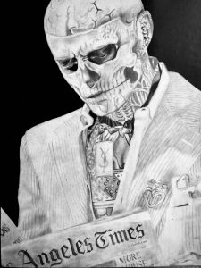 Here's another one since you enjoyed my last post here! Thought Rick Genest would be a fun subject to draw