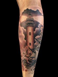 Chipping away at my leg sleeve. Fabian at Laguna tattoo, Laguna Beach CA