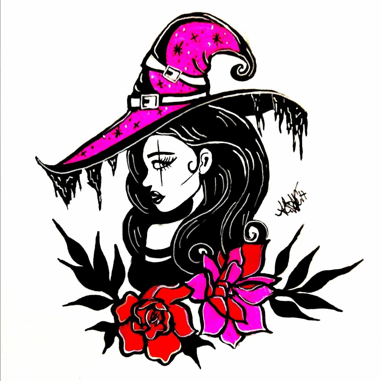 Witchy old school inspired design