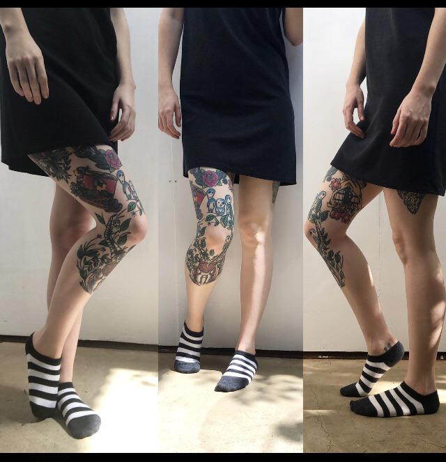 All angles of my traditional patchwork leg done by @carloswolfos, much more work to go but I can't help and appreciate what I have already.