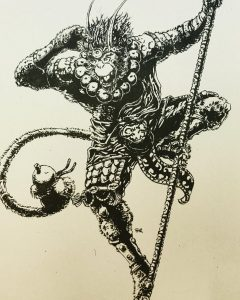 [Art] Inked Monkey king