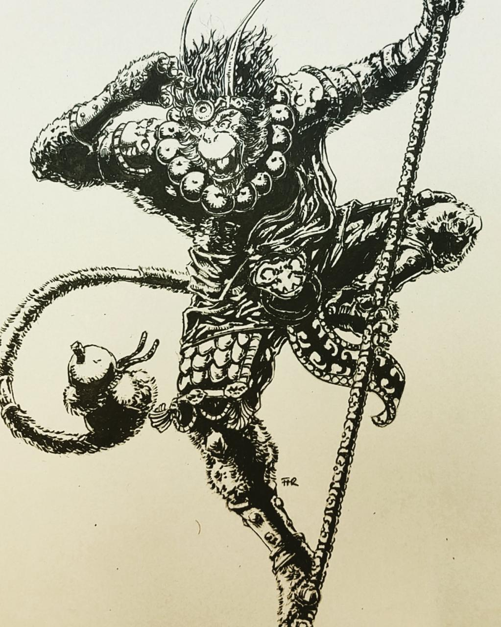 [Art] Inked Monkey king