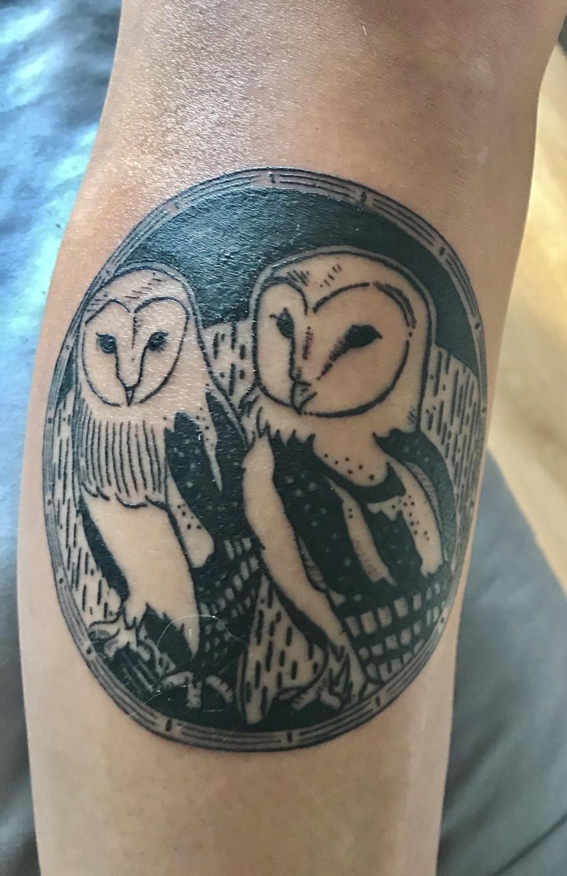 Trampled by Turtles Owls by Sammy at Hollandais Volant in Qc Canada . Top right leg