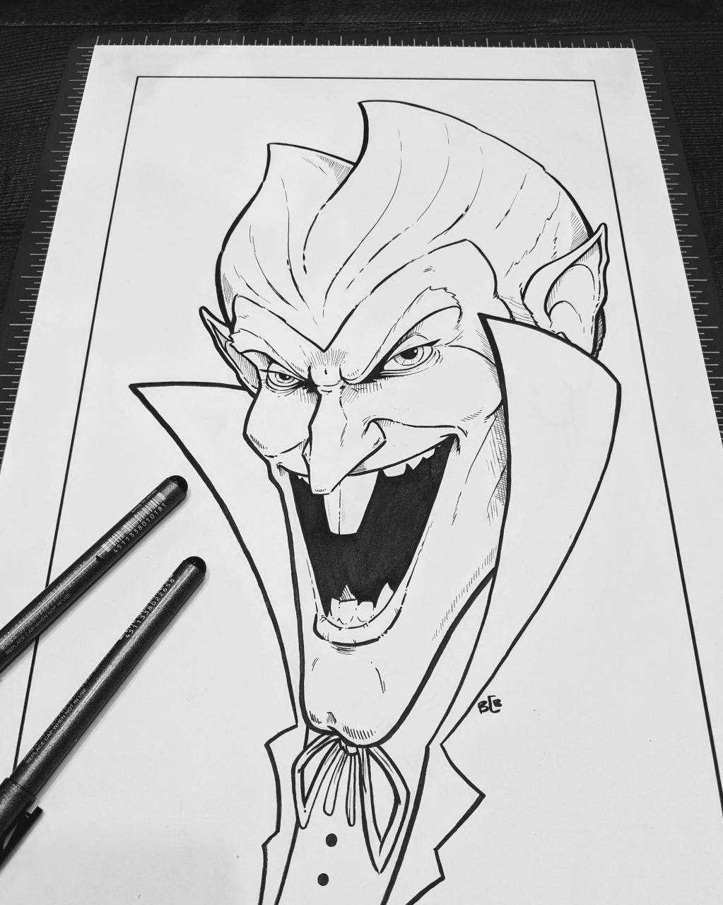 The Count of chocolate. Ink. (Mr.Grumble_Art)