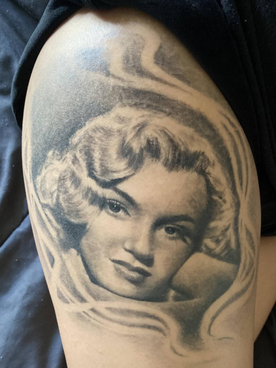 My Norma Jean portrait done by Gus B in Texas.