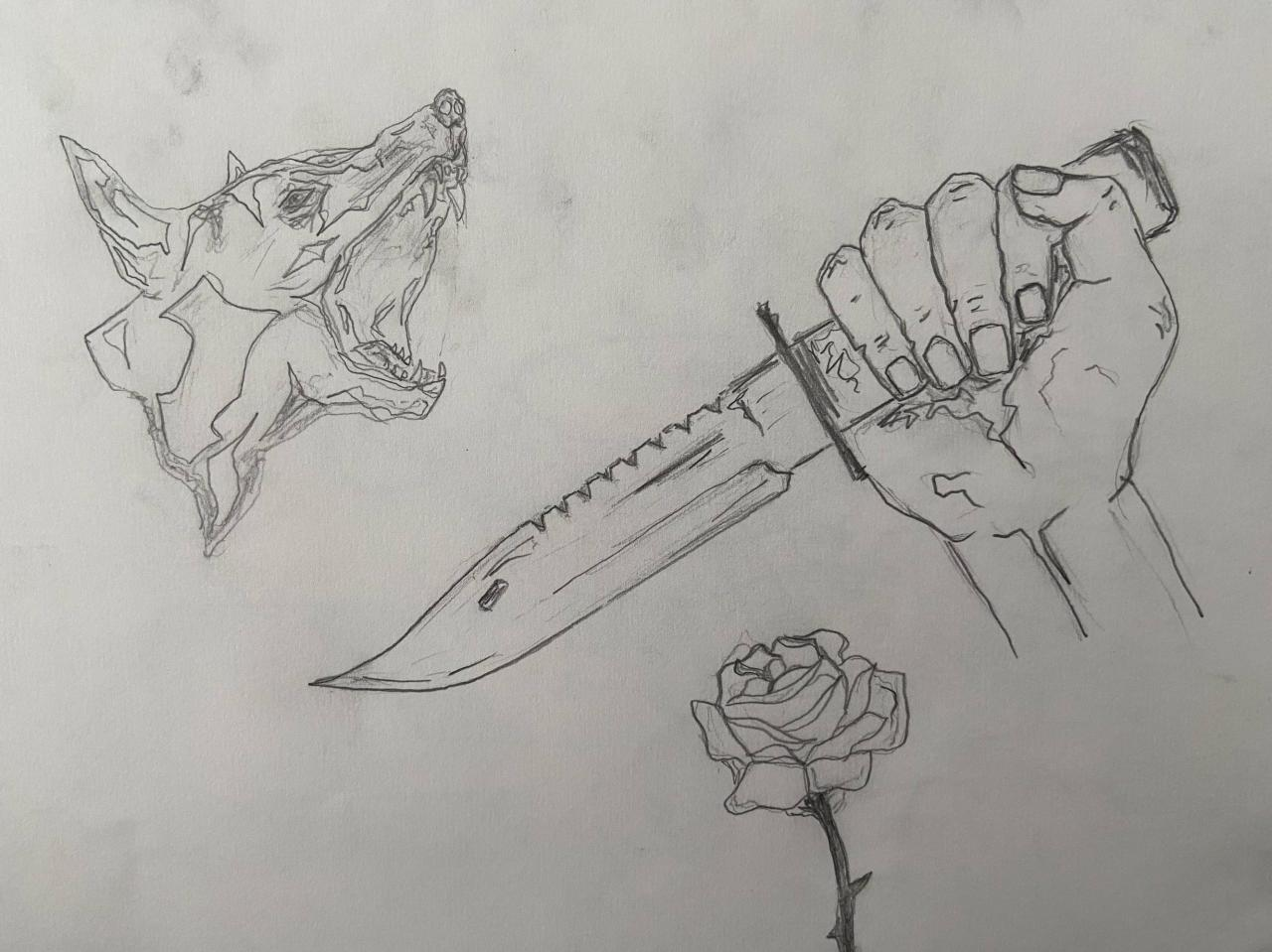 Some design ideas I drew. Tattoo artist could fix them up I'm sure