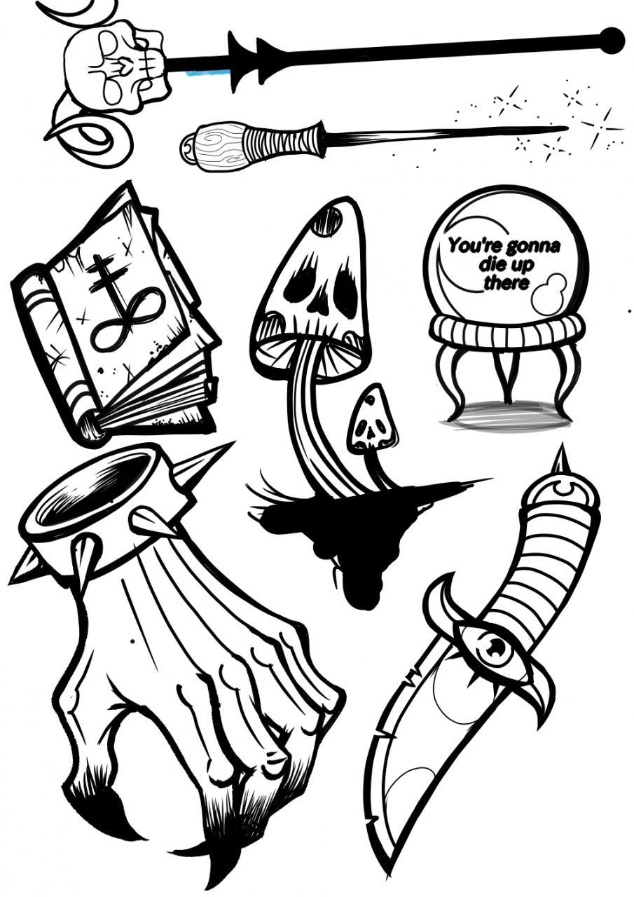 Dark doodles