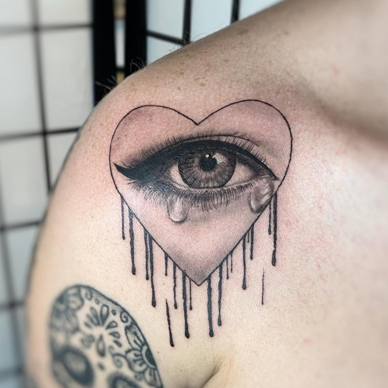 Crying heart by me, Olivia Hartranft, Boston Tattoo Company