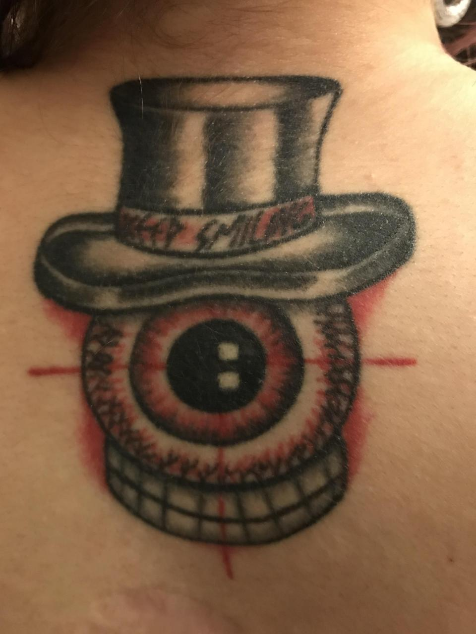 Here's my first tattoo, it's on the back of my neck. Amy from Shamballas did this