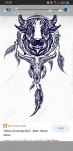 You guys think this will look good on my forearm? The bull and the feathers will be mechanized cause im an engineer [m25]
