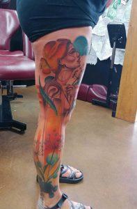 Done by Kevin Blamires @ Pyramid Tattoo. Boise, ID. (Wife's leg)