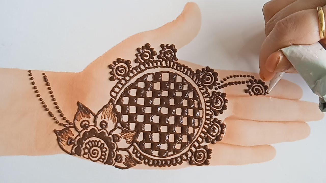 Attractive easy henna mehndi design - tattoo