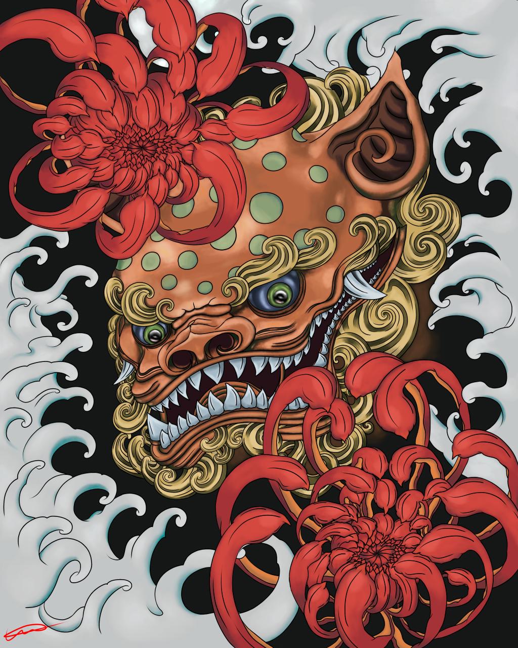 Victory in Chrysanthemums, Me, Digital Art