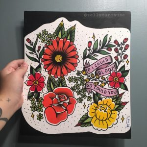 friend asked me to design her a floral half sleeve ☻ happy with this one!