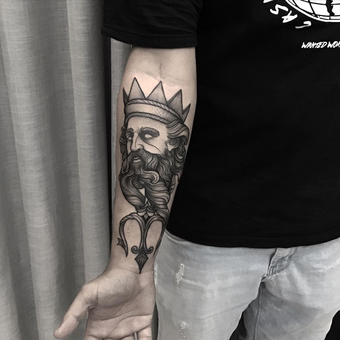 Poseidon Tattoos: – All Things Tattoo: Artists credited within