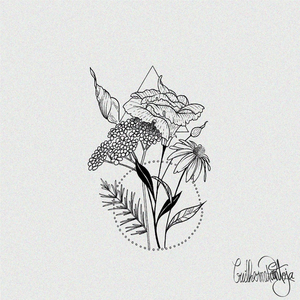 Lisianthus tattoo i designed for a fellow redditor. I do dotwork, linework nature themes black and white, let me helo you with yours!
