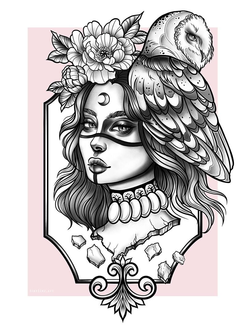 One of my personal favorite pieces I drew. Inspired by neotraditional tattoo artist filouino.