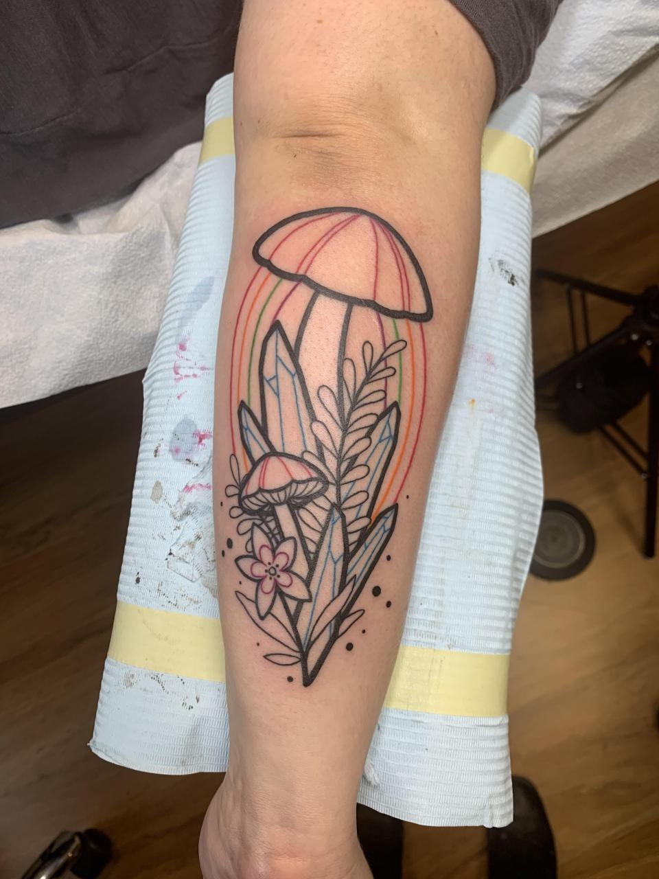 Got the line work done yesterday, color and shading next month. Just wanted to show the design!