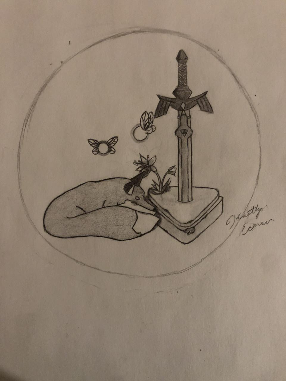 I want to get this tattoo I designed on my shoulder blade. What's the smallest I can get it without the finer details disappearing? Also, what would you recommend in terms of coloring or no coloring? Sorry for reposting the artwork :)