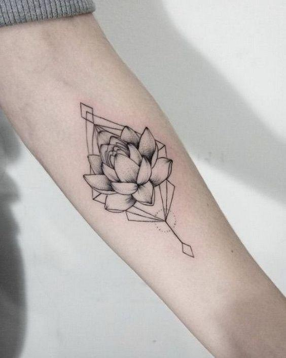 """Hey there guys! 27 yo currently going for his first tattoo ever. My idea was to get a Lotus flower as similar to this one as possible (loving the minimal style) & to add this quote below; """"May all beings be free of suffering"""". I know it's a very personal topic but, any feedback?:)"""