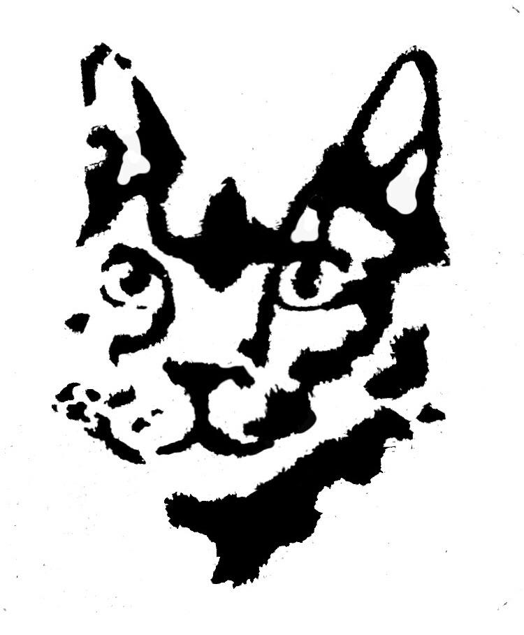 Planning my first tattoo. This is an image that I created of my first cat. I also embroidered this design for my mum last Mother's Day, and I wanted a Rorschach vibe... opinions? Too much black?