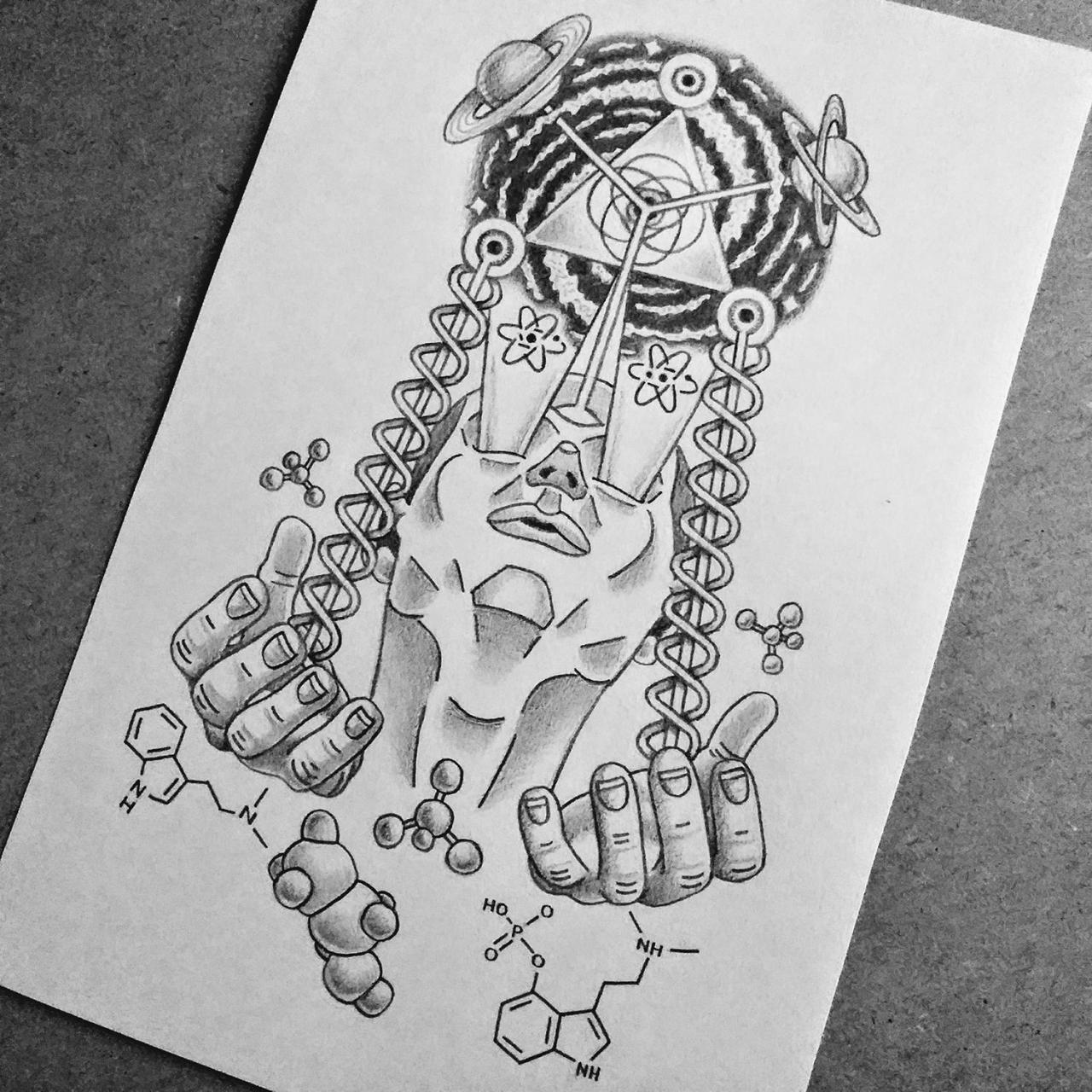 Cosmic Vision tattoo design I made