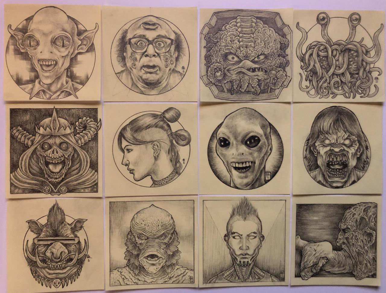 I draw a lot on Post-it notes and I was told they would make good tattoo designs. What say you?