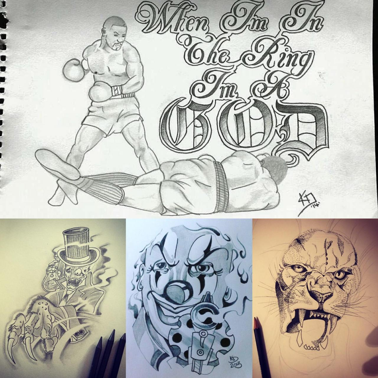 Found some old ass drawings from 2013/14 😂 my love for tattoos really does go back further than I remember 💉🎨🖤