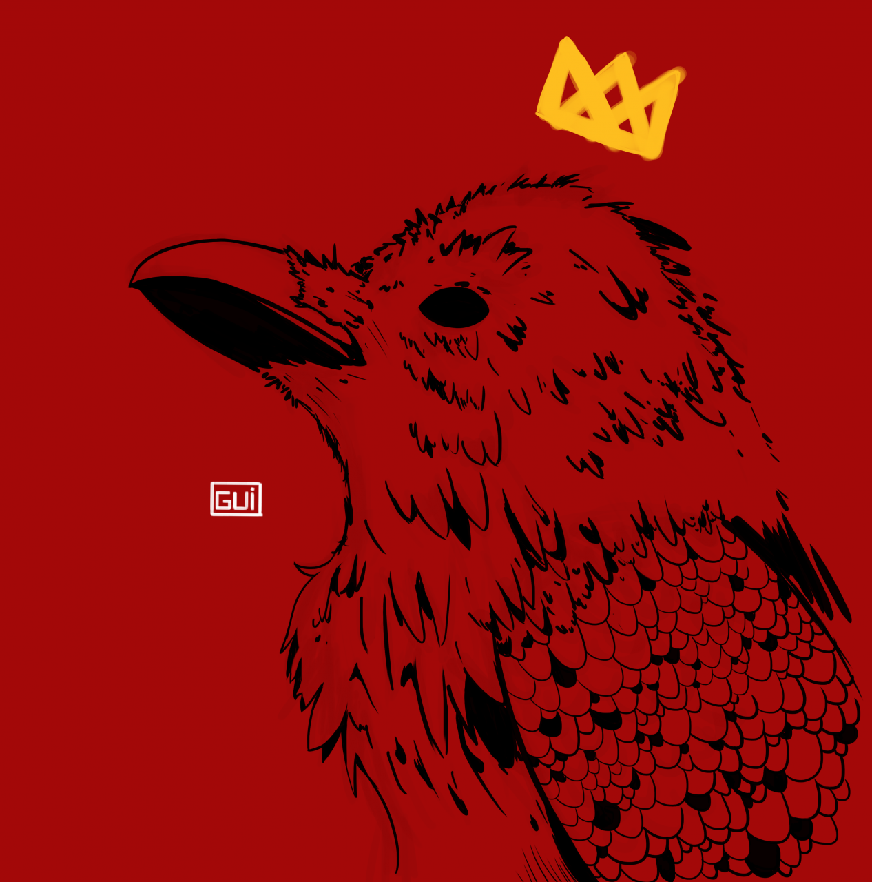 Crow King - Do you think this image can be turned into a Tattoo? Any advice?