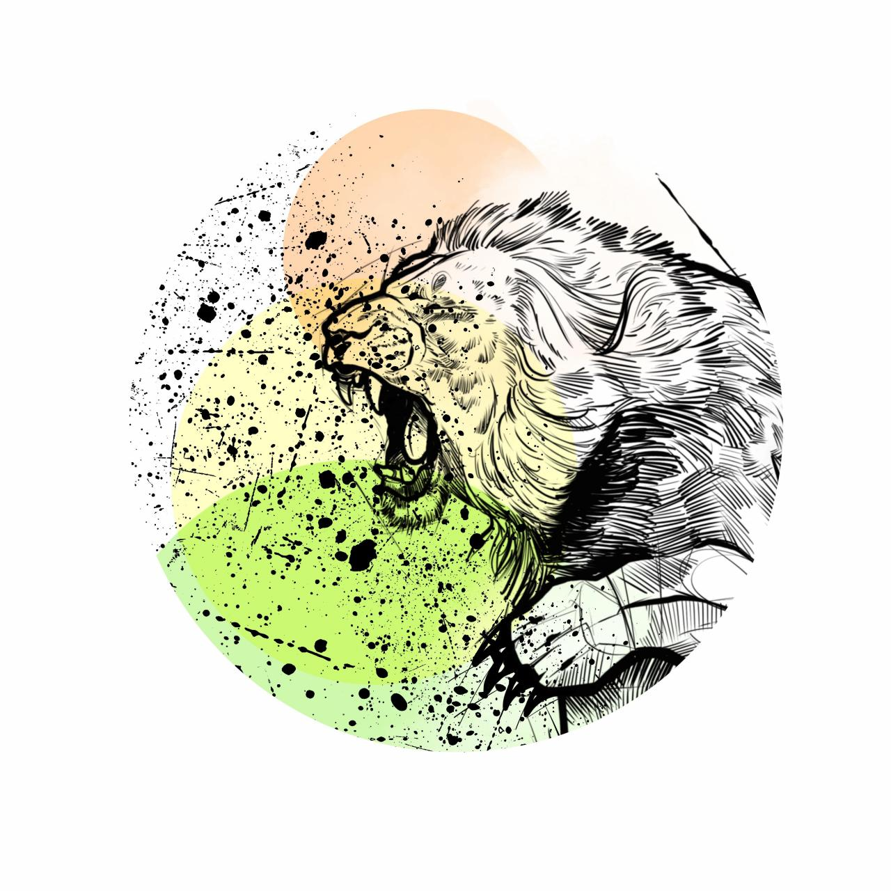 custom lion tattoo design - I'm open for commissions - PM for custom designs