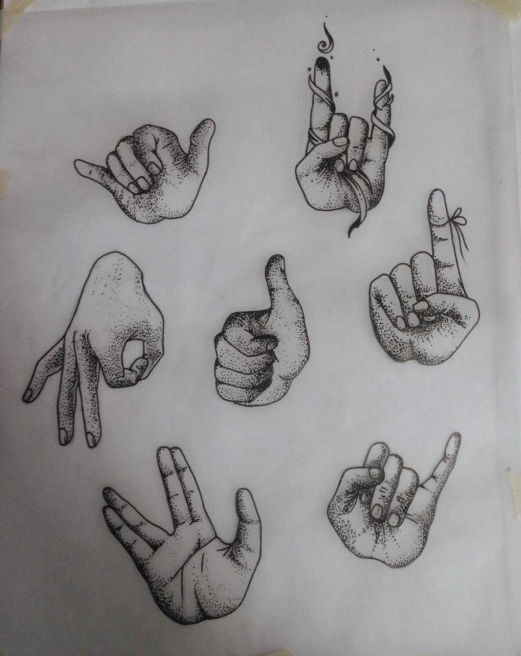 Aspiring Tattoo artist building a portfolio. Any criticism is welcome. Hands 2