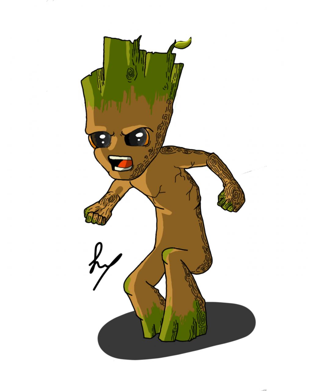 Groot tattoo design for my sister