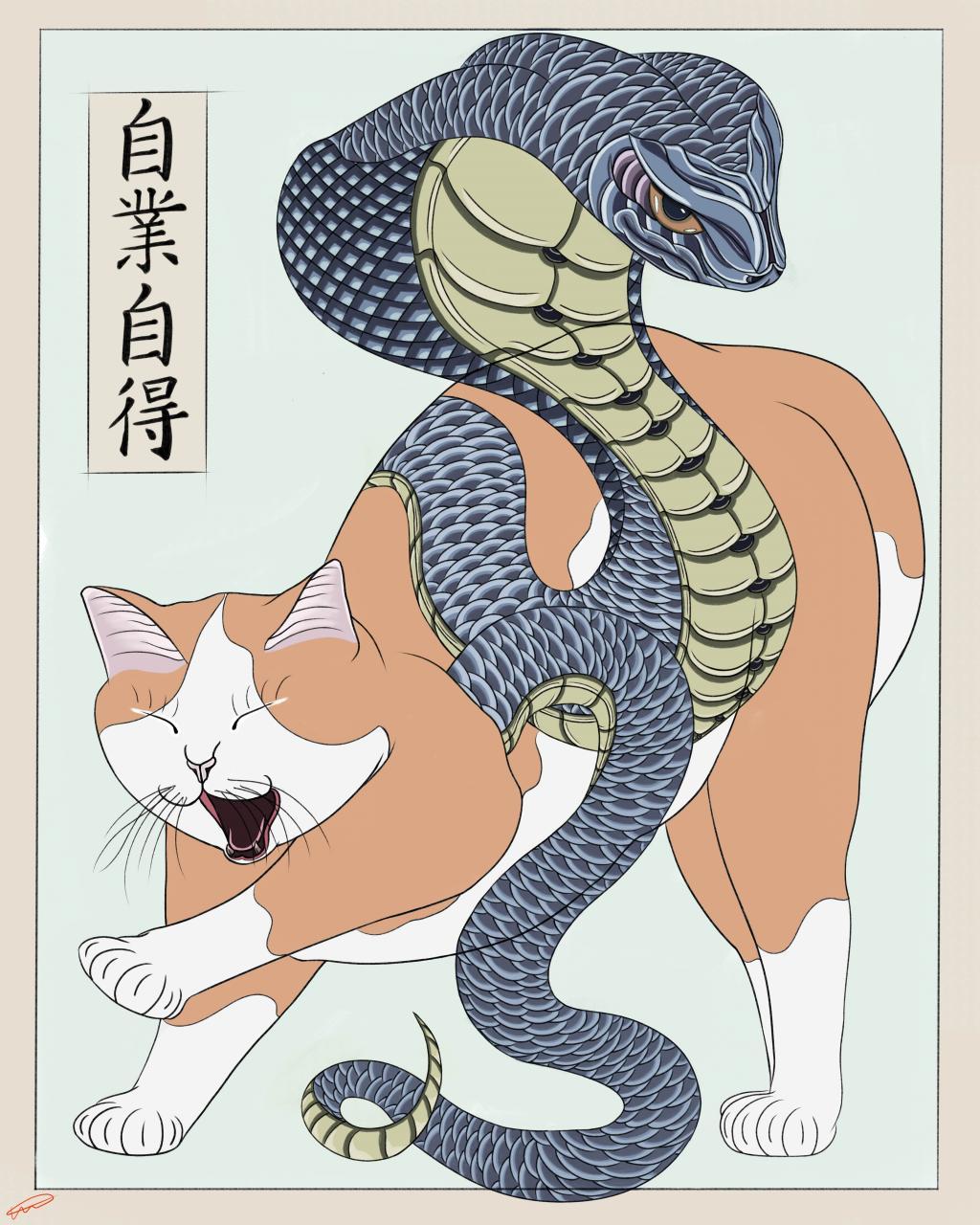 Jigoujitoku, my new monmon cat design